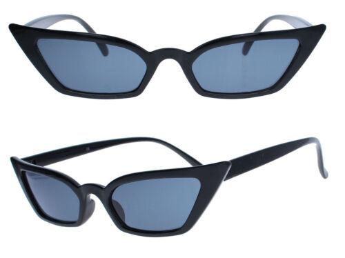 Schmale Retro Sonnenbrille Damen Blogger Cat Eye Halbbrille 60er Jahre Vintage