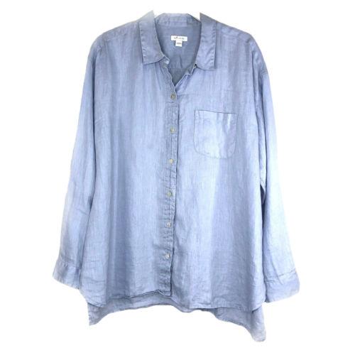 J. Jill Women's Love Linen Buttoned Long Sleeve Sh