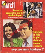 Paris Match n°1366 du 02/08/1975 Onassis Apollo Soyouz Espace Claude François
