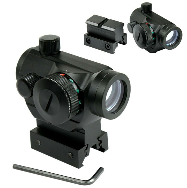 "Tactical Holographic Green / Red Dot Sight Scope with Rail Mount & 1"" Rail Riser"