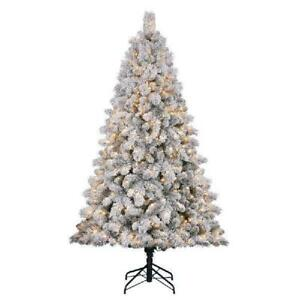 Home Heritage 7 Ft Cascade Mixed Pine Christmas Tree With Color