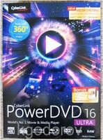 Cyberlink Powerdvd 16 Ultra W/free Photodirector 7 Deluxe – Sealed Retail Box