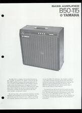 Rare Original Factory Yamaha B50-115 Bass Guitar Amplifier Dealer Sheet Page
