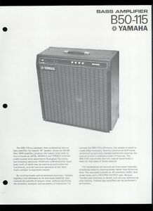 rare original factory yamaha b50 115 bass guitar amplifier dealer sheet page ebay. Black Bedroom Furniture Sets. Home Design Ideas