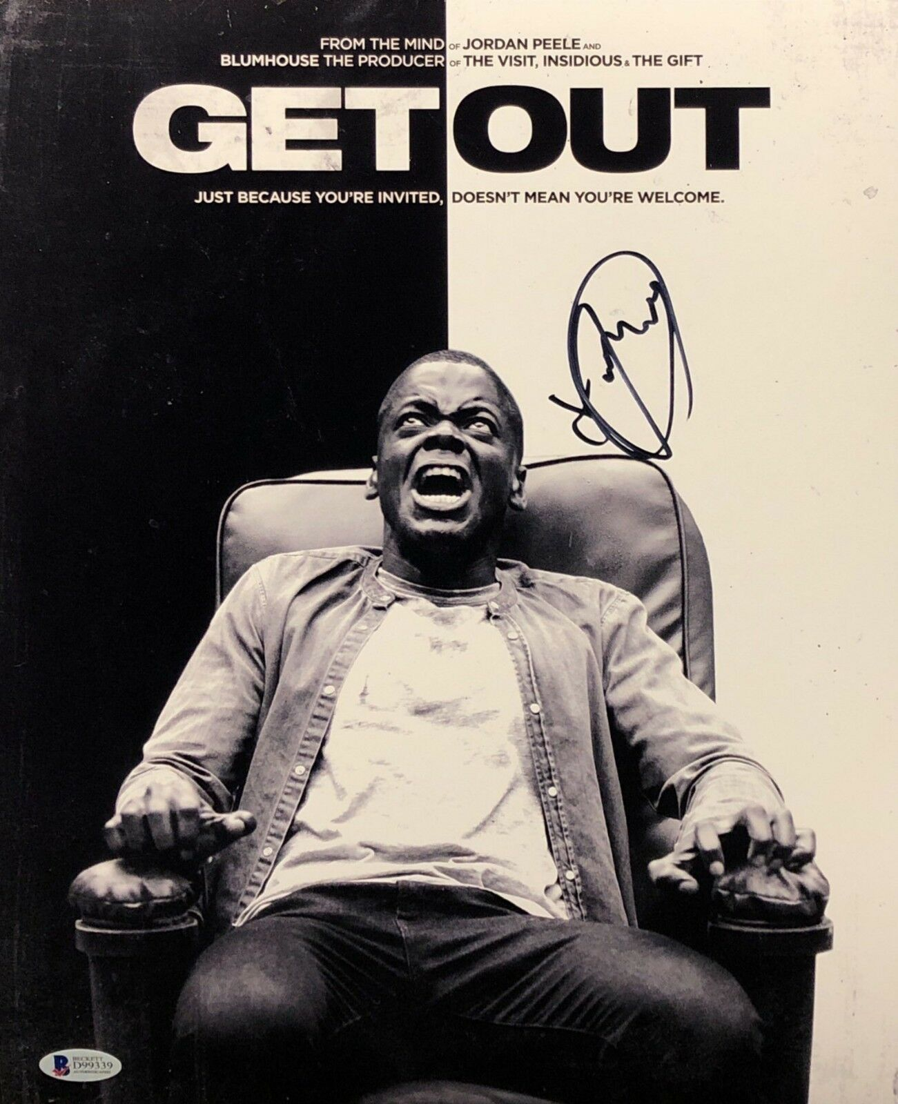 Daniel Kaluuya Signed 'Get Out' 11x14 Photo BAS Beckett D99339
