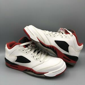 82df882f3d229b Nike Air Jordan Retro V Fire Red Low Size 7y 314338 101 Bred Chicago ...