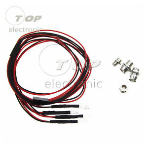 NEW Accessories RC On-Road Car LED Lights 5mm White And 3mm Red Headlamps Light