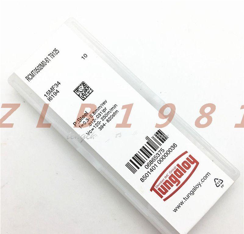 10PCS NEW- Tungaloy CNC Blade RCMT0502MO-61 T9125