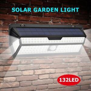 132LED-Solare-Lampada-con-Sensore-di-Movimento-Esterno-Proiettori-Faretto