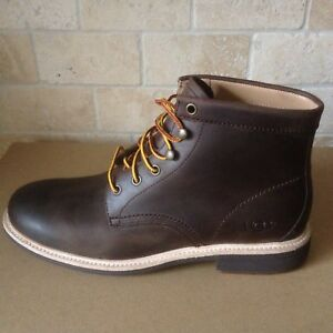 a6d24f7df7e Details about UGG VESTMAR GRIZZLY BROWN LEATHER WATERPROOF ANKLE SHOES  BOOTS SIZE US 13 MENS