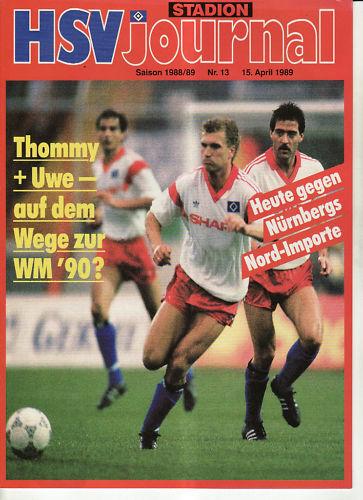 BL 88//89 Hamburger SV FC Nürnberg 1