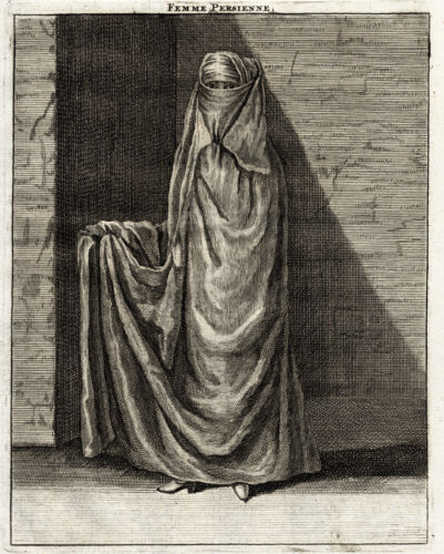Antique Print-WOMAN-PERSIAN-IRAN-De Bruyn-1718