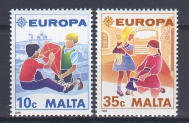 MALTA, EUROPA CEPT 1989, CHILDREN'S GAMES, MNH