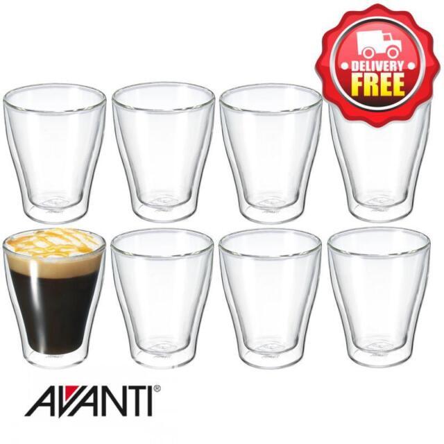 Avanti Modena 250ml Twin Wall Glass  8 pcs Set | RRP $115