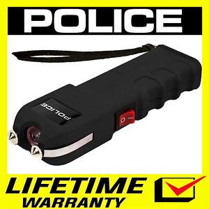 POLICE BLACK Stun Gun 928 650 BV Heavy Duty Rechargeable LED Flashlight