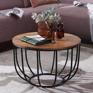 FineBuy Tavolino da caffè MANURA tavolo da salotto legno massello ...