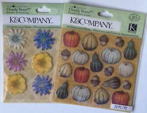 K /& Co Tim Coffey Travel Sea Life Stamp Epoxy Stickers Planner DIY Crafts Shell
