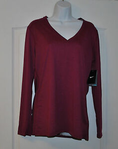 NWT-WOMAN-039-S-NIKE-DRI-FIT-SHIRT-SIZE-L-GYM-JOGGING-CASUAL-GOLF-VACATION