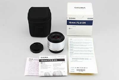 SIGMA A 19mm f2.8 DN SILVER For MICRO FOUR THIRDS EXCELLENT+++++ From JAPAN 0078