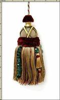 Castellano Beltrame Deep Crimson Sand Green Teal Mix 7 Decorative Key Tassel