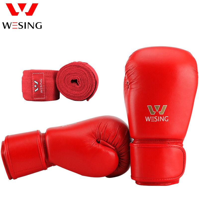 Boxhandschuhe mit Handwickel-Sets Punch-Mitts-Ausrüstung genehmigt Aiba