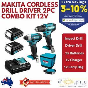 Makita-Cordless-Impact-Drill-Driver-Combo-Kit-Li-Ion-Batteries-Charger-Carry-Bag