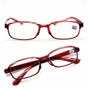 aca14516c579 Retro Wind Red Square Frame Wood Design Reading Glasses Men/Womens ...