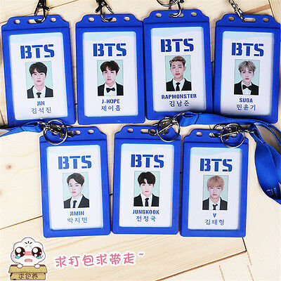 Kpop BTS Identity ID Card Holder Case Badge Bangtan Sonyeondan Boys