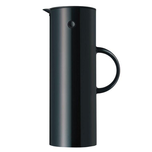 Stelton Isolierkanne EM77 Schwarz glänzend (Groß)