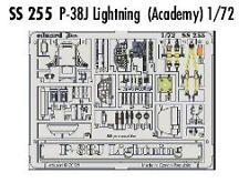 Eduard 1/72 ataque P-38J para Academia # SS255