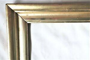 """2 Antique Fits 8 X 10"""" LEMON Gold GILT Picture Frames Wood Fine Art VICTORIAN"""