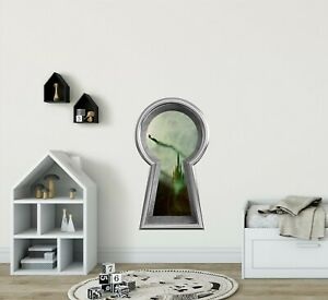 3D-Keyhole-Wall-Decal-Wicked-Witch-Wizard-of-OZ-Fantasy-Wall-Art-Sticker
