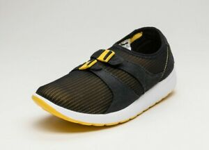 Nike-Air-Men-039-s-Size-8-Sockracer-Trainers-Black-Yellow-Running-Shoes