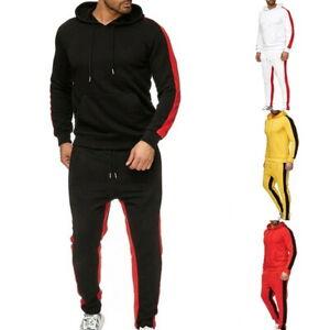 Herren Trainingsanzug Jogging Kapuzenpullover Sport Sweatshirt Jacke Lang Hose