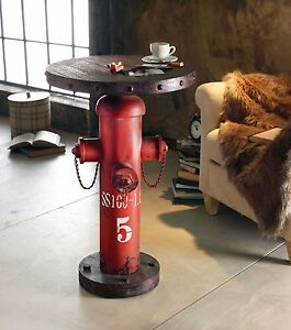 Das Bild Wird Geladen Beistelltisch Hydrant Fireplug Rot Wohnzimmertisch Tisch Industrial Chic