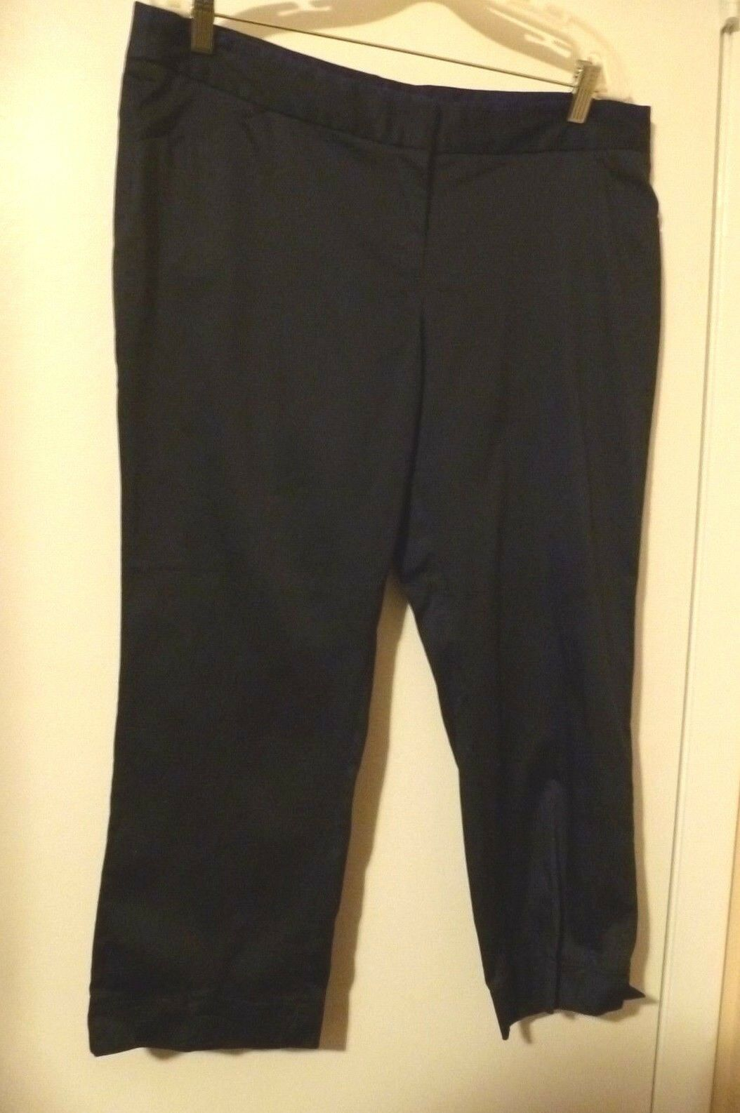 LAUNDRY SHELLI SEGAL Women's NAVY blueE Dress Capri Pants Size 14