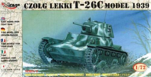 1//72 MIRAGE RARE T-26 C MODEL 1939 TANK FINNISH /& SOVIET ARMY MARKINGS