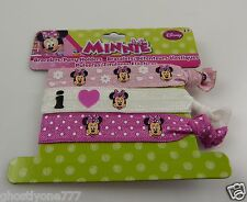Disney Minnie Mouse  bracelets or pony tail holders pink white