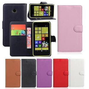 PU-Cuir-a-Clapet-Support-Portefeuille-Encastre-Etui-pour-Nokia-Microsoft-Lumia