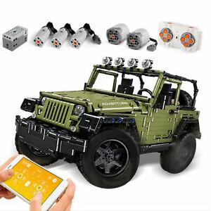 motor Off-Road Bloques de Construcción Technic MOC-5140 Jeep Wrangler Rubicon aplicación RC