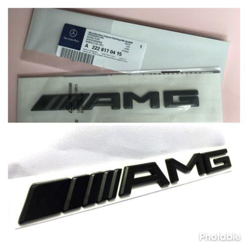 Genuine Mercedes AMG Matte Black Rear Badge Trunk Emblem C63 E63 A45 AMG