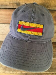eb31a931e Vintage NIKE Blue Yellow Red Embroidered Snapback Adult Cap Hat | eBay