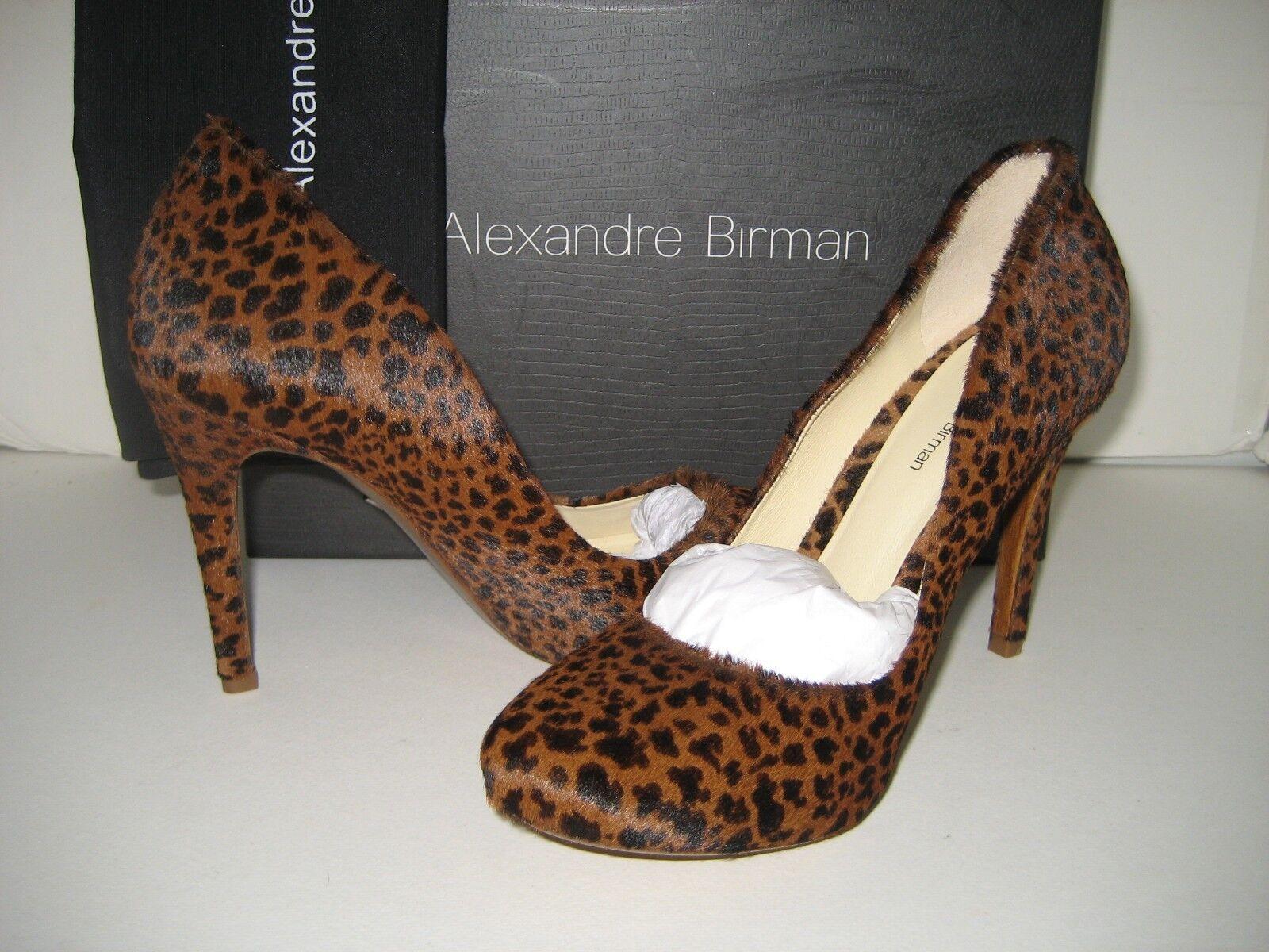 NUOVO Alexandre Birman donna  US 9 EU 40 Leopard Fur High Heels Pumps scarpe Defect  stile classico