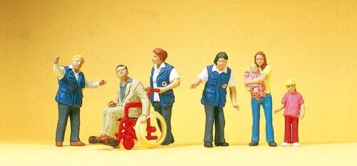 Preiser 10534 Bahnhofsmission Miniaturfiguren H0 1:87 Exklusivserie.