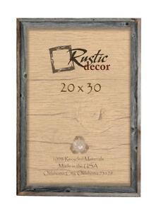 """20x30-2/"""" Wide Signature Reclaimed Rustic Barn Wood Wall Frame"""