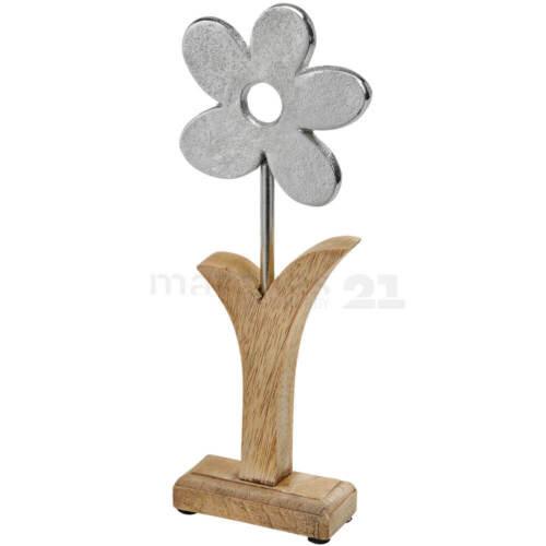 Deko Blume Holz /& Metall Figur 1 Stk Osterdeko Frühlingsdekoration 27 cm