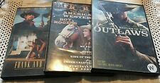 3 DVD LOT OF WESTERN MOVIES OUTLAWS FRANK & JESSE THE GREAT AMERICAN WESTERN