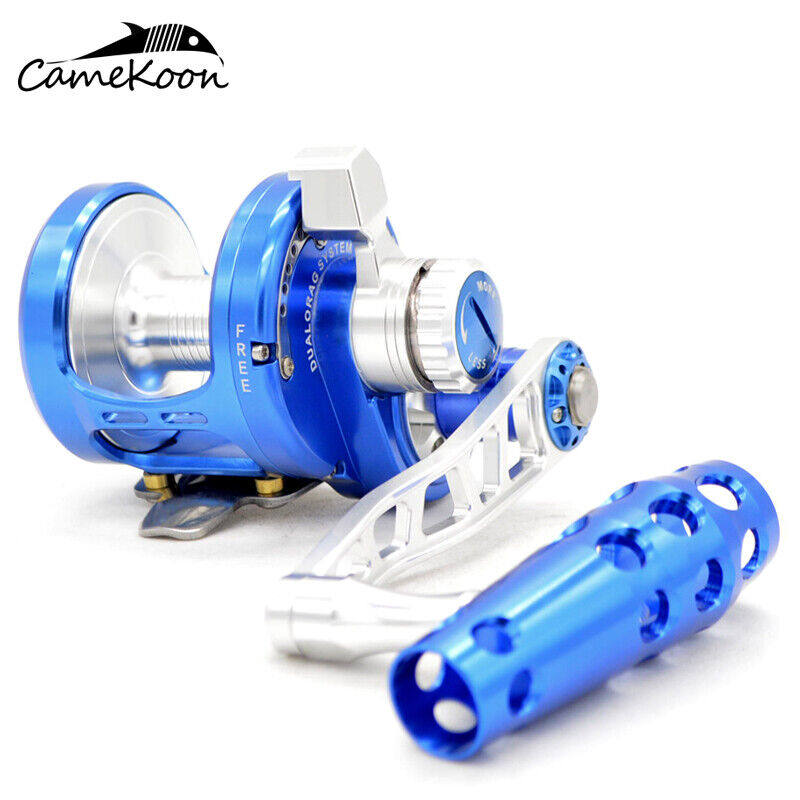 CAMEKOON TW500 Saltwater Conventional Lever Drag pesca Reel  66 Lbs Max Drag