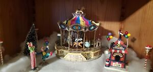 Lemax Belmont Carousel 2004 Village Carnival Animated Lighted Orig Box Rotates