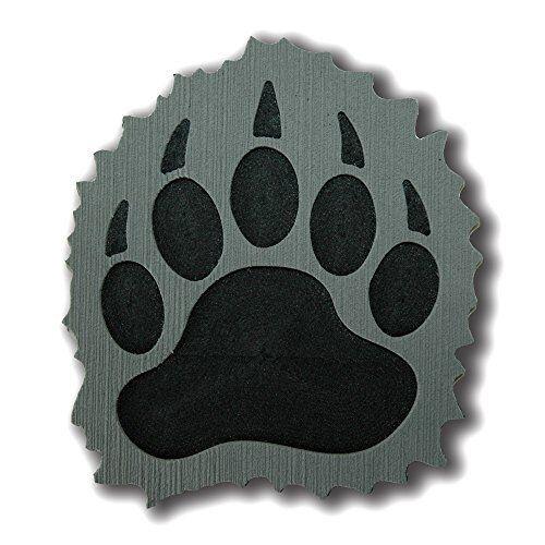NEW ToeJamR Stomp Pad  Furry Black Bear Paw  Gray FREE SHIPPING